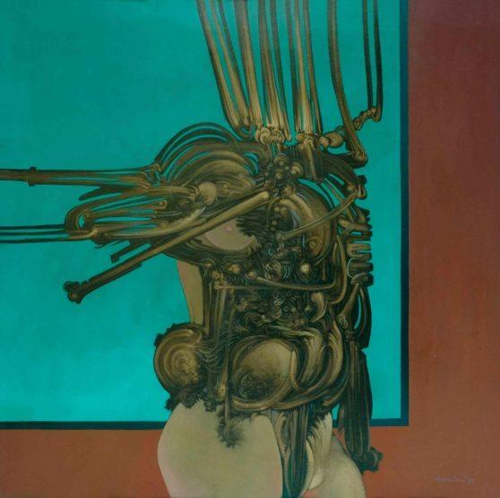 La condizione umana nelle opere degli anni '70 di   Aldo Bresciani (1934-2006).